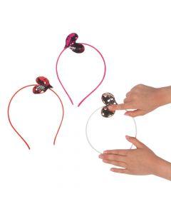 Reversible Sequin Heart Headbands