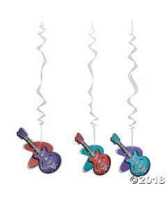 Rockin' 50's Guitar Hanging Swirls