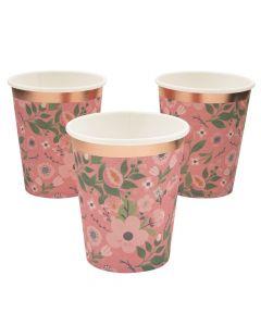 Rose Gold Bridal Shower Paper Cups