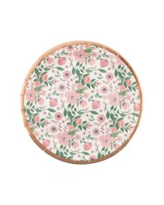 Rose Gold Bridal Shower Paper Dinner Plates