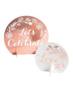 Rose Gold Foil Bridal Shower Centerpiece Kit