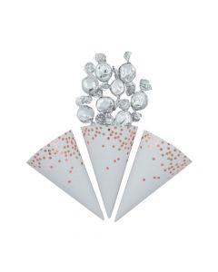 Rose Gold Foil Scatter Dots Snack Cones