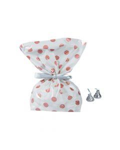 Rose Gold Polka Dots Cellophane Bags