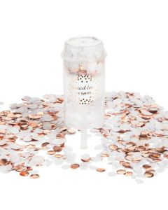Rose Gold Push-Up Confetti Poppers