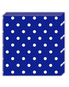 Royal Blue Dots Lunch Napkin