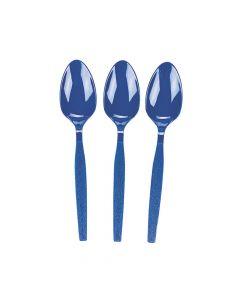 Royal Blue Plastic Spoons