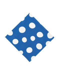 Royal Blue Polka Dot Luncheon Napkins