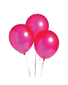"""Ruby Red 11"""" Latex Balloons"""