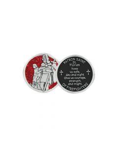 Saint Florian Firefighter Pocket Token