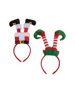 Santa and Elf Legs Headbands