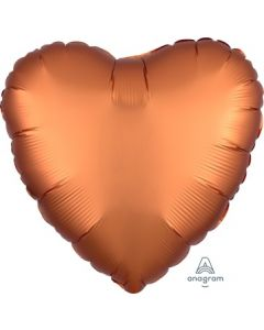 Satin Luxe Amber Heart Foil Balloon