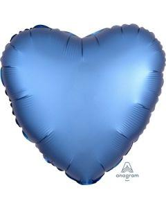 Satin Luxe Azure Heart Foil Balloon