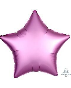 Satin Luxe Flamingo Star Foil Balloon