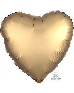 Satin Luxe Gold Sateen Heart Foil Balloon