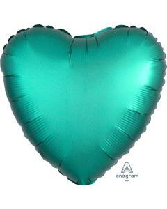 Satin Luxe Jade Heart Foil Balloon