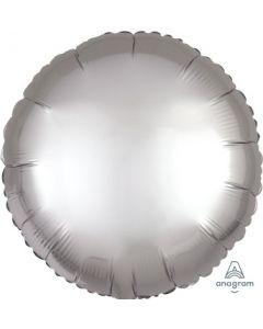 Satin Luxe Platinum Circle Foil Balloon