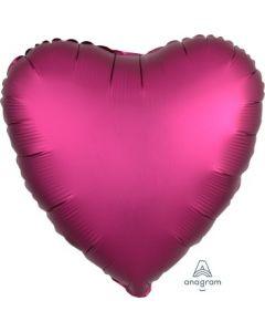 Satin Luxe Pomegranate Heart Foil Balloon
