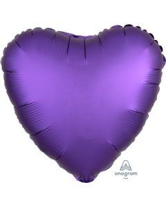 Satin Luxe Purple Royale Heart Foil Balloon