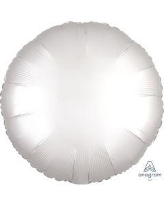 Satin Luxe White Satin Circle Foil Balloon