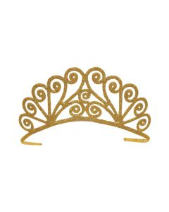 Savannah Gold Glittered Metal Tiara