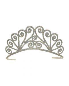 Savannah Silver Glittered Metal Tiara