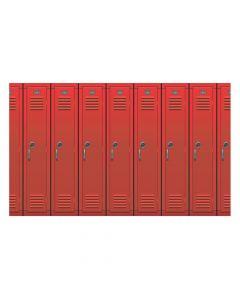 School Locker Backdrop Banner