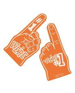 School Spirit Orange Foam Hands