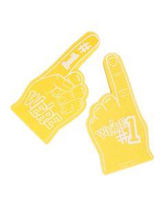 School Spirit Yellow Foam Hands