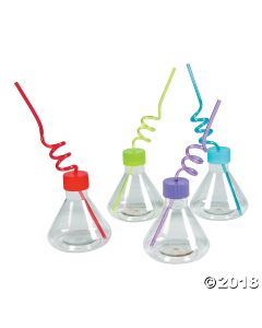 Science Party Cups with Straw