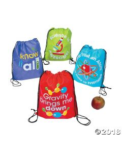 Science Party Drawstring Backpacks
