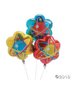 Science Party Foil Balloons