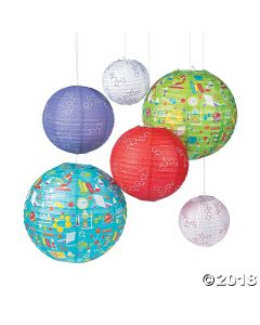 Science Party Paper Lanterns