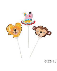 Self-inflating Circus Mylar Balloons Assortment