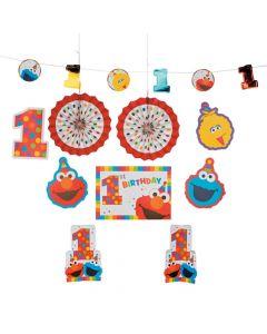 Sesame Street Elmo Turns One Room Decorating Kit