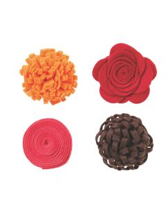 Shades of Red Felt Flowers