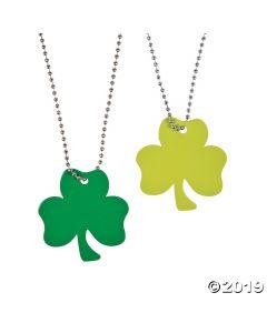 Shamrock-shaped Dog Tag Necklaces