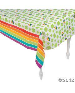 Shamrocks & Rainbows Plastic Tablecloth