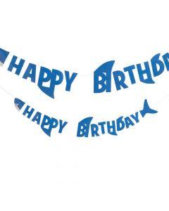 Shark Birthday Party Garland