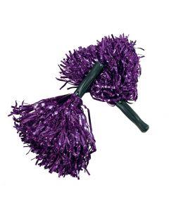 Shiny Purple Pom-Poms