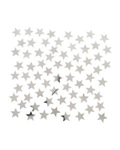 Silver Foil Star-Shaped Confetti