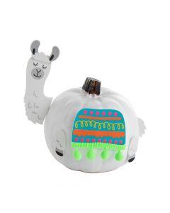 Small Llama Pumpkin Decorating Craft Kit
