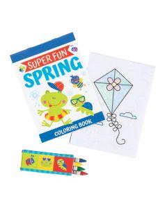 Snappy Spring Coloring Books with Crayons