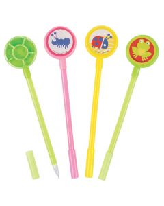 Snappy Spring Pens with Noisemaker Topper
