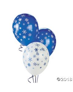 Snowflake Latex Balloons