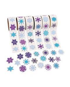 Snowflake Rolls of Stickers Assortment