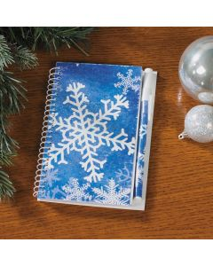 Snowflake Spiral Notepads with Pen