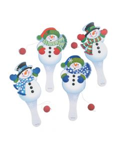 Snowman Paddle Ball Games