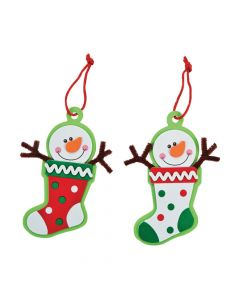 Snowman Stocking Christmas Ornament Craft Kit