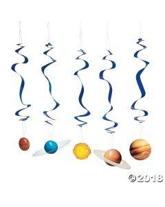 Solar System Hanging Swirls