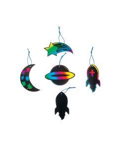 Solar System Magic Color Scratch Ornaments